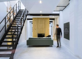 Former office and workshop was completely renovated and converted into a contemporary loft