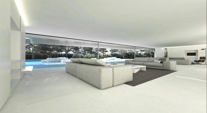 fran-silvestre-arquitectos-design-modern-two-storey-aluminium-residence-located-madrid-07