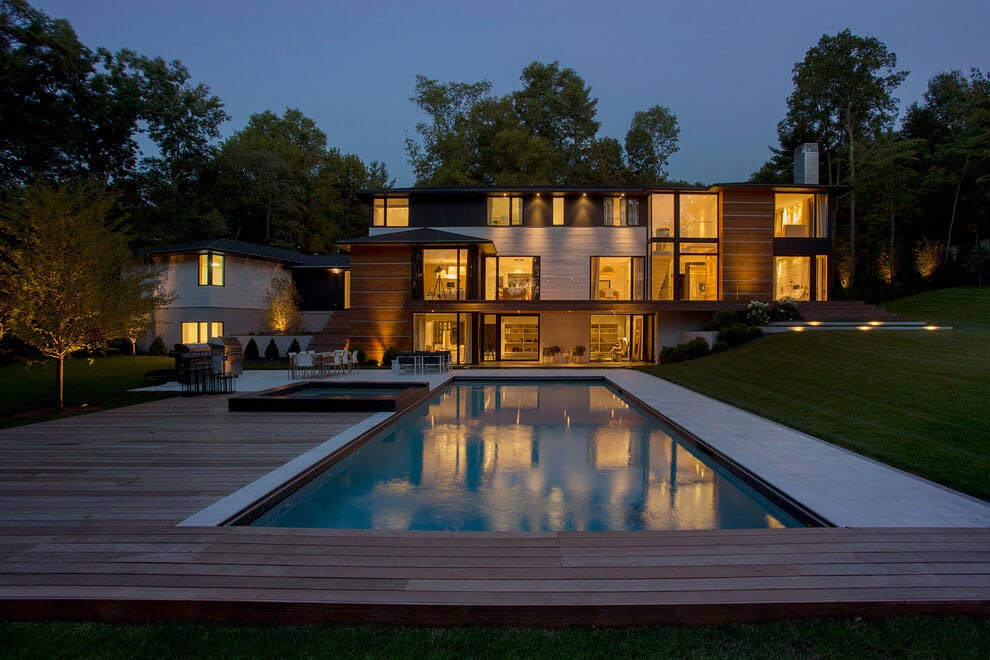 Ledgewood contemporary new england style home by lda for Modern new england homes