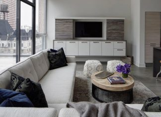 LG Interiors design a stylish chic penthouse in the epi-center of downtown Chicago