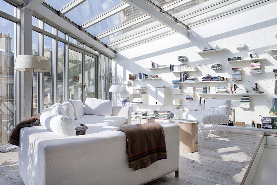LK contemporary pale colour Loft in Paris designed by Olivier ...