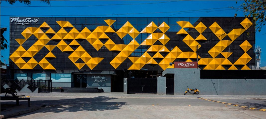 Martinu0027s Dazzling Yellow Panels On The Façade Of A Furniture Factory,  Designed By Studio Ardete