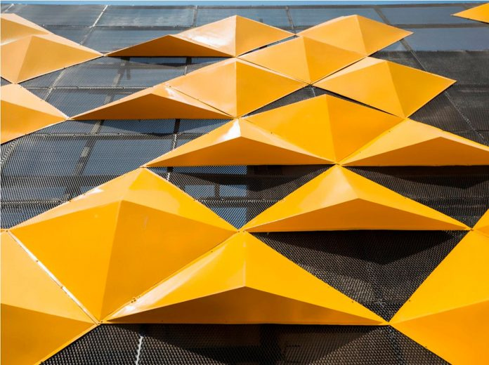... Martins Dazzling Yellow Panels Facade Furniture Factory Designed  ...