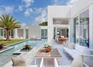 Modern single family house located in Delray Beach, Florida designed by IBI Designs