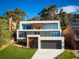 The Tathra Residence designed by Dream Design Build, a terraced up the hill home that maximises the magnificent ocean views