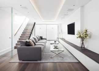 Traditional England residence converted into contemporary Doria Road Home by Jo Cowen Architects