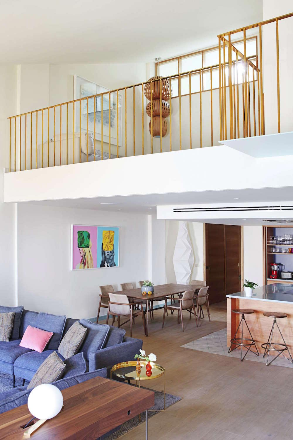 Two story modern apartment situated in the historical center of Valencia designed by Rubio and Ros