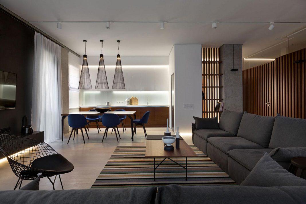 Wood And Marble Elegant And Laconic Minimalist Style