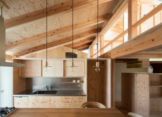 Wooden Fence House for four in a mini-development site by Hitotomori/Tomoko
