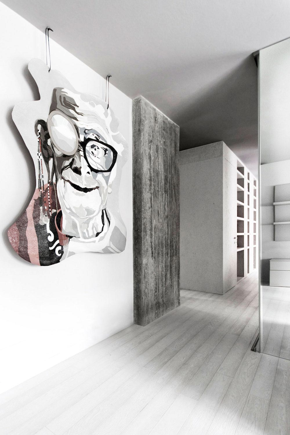 Complete White Casa Esse designed by LDA.iMdA Associated Architects in San Miniato, Italy