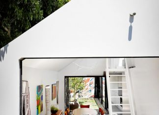 Contemporary redesigned 2 storey small house by Austin Maynard Architects