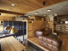 Contemporary Unique Wood Apartment in Moscow by Alexei Rosenberg