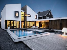 Dutch design office zone zuid architecten recently completed a new 225 sq m home in one of the suburbs of Roosendaal
