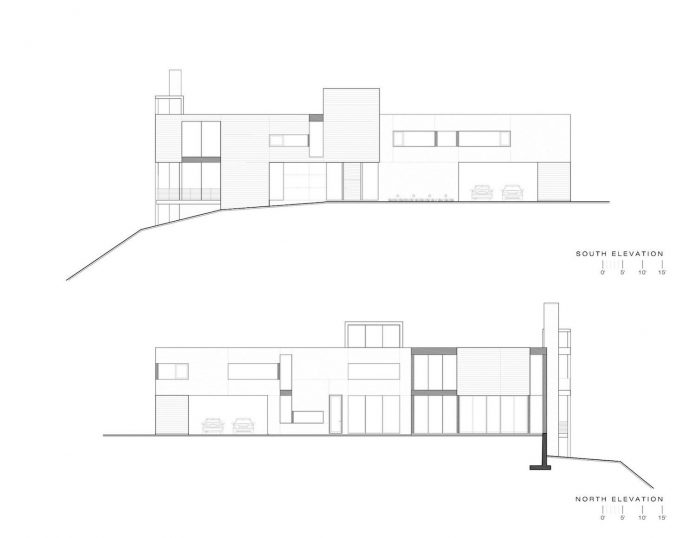 Linear Composition Of A Minimal Home With Two Story Living