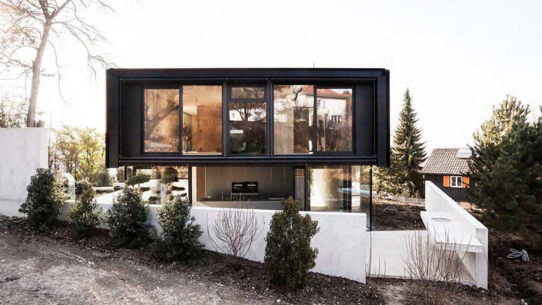 Modern Architecture House Glass modern house in riehen madeglass, concrete, wood, and metal