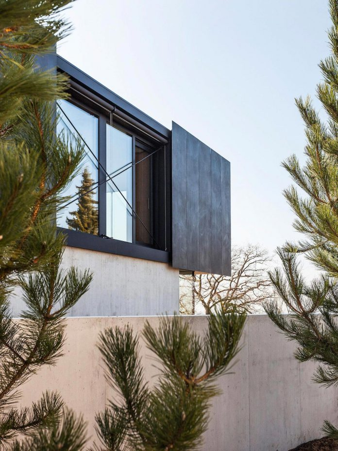 Modern House In Riehen Made By Glass Concrete Wood And