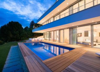 Modern residential building situated on a hillside in Pforzheim with magnificent panoramic views