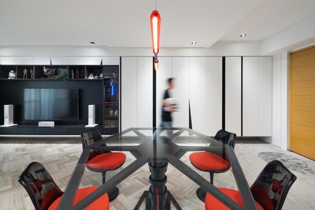 Star Wars themed open space design of an apartment located in Taipei