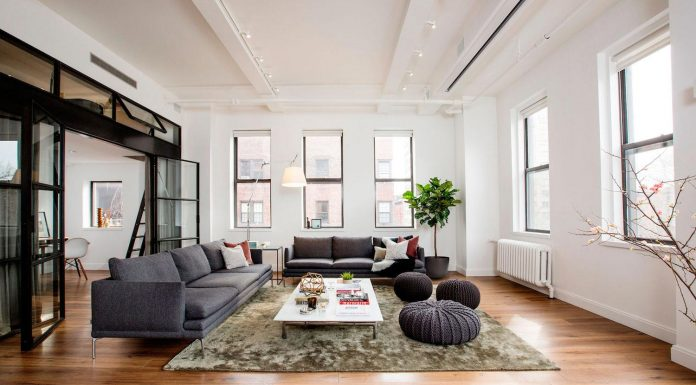 The East Village Loft occupies a wing of what was once a small hospital across the street from the historic St. Mark's Church