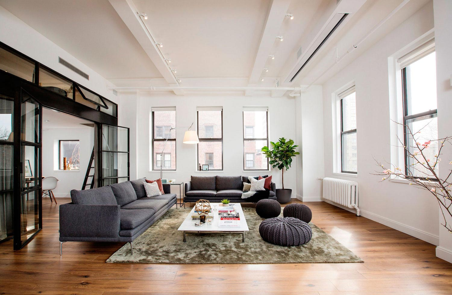 The East Village Loft occupies a wing of what was once a small ...