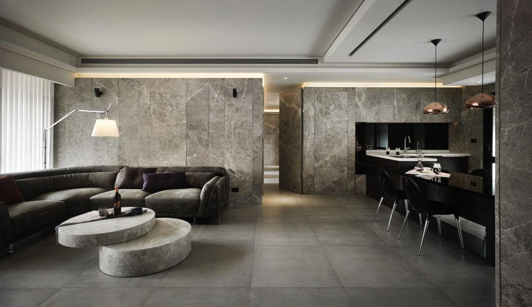 HD Apartment with a lot of marble insertion, a residential project designed by Yoma Design
