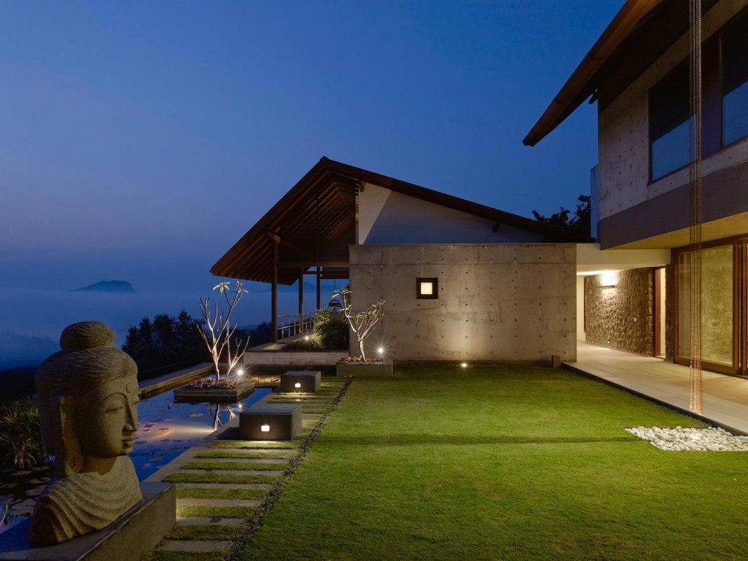 Large Weekend Getaway House For A Joint Family Consisting Of Three Smaller Villas Home Design