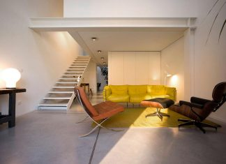 Loft Ex Magazzini Generali with a furniture reflection of modern and vintage design