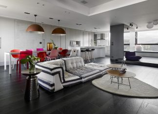 Modern penthouse situated on the 11th floor in a high-rise in Taipei