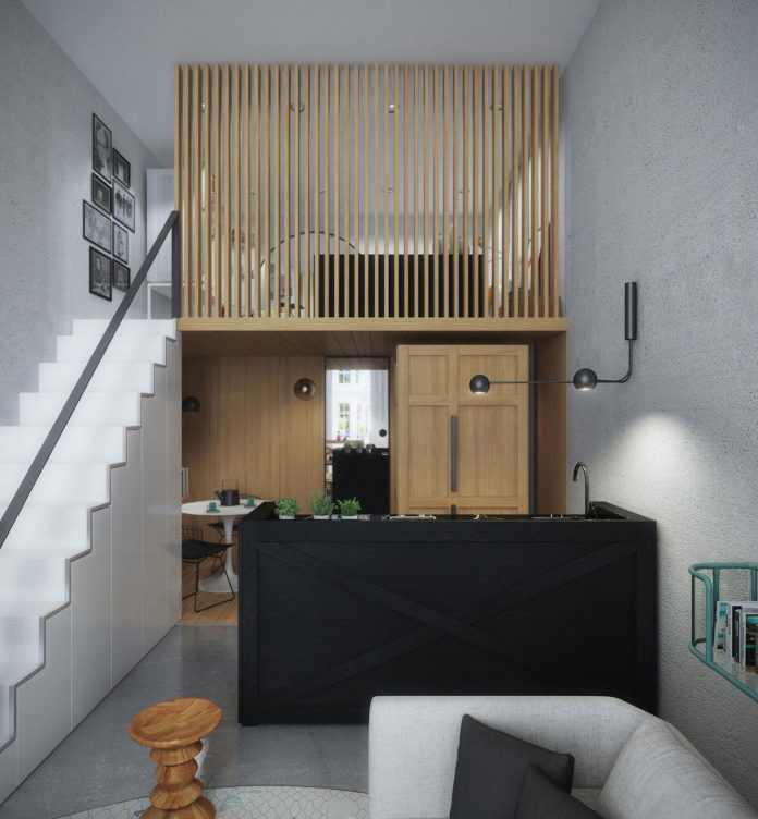 Small 33 square metre home designed for a young couple who has ...