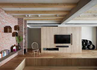 Apartment interior design created in order to promote the relation between each area openly