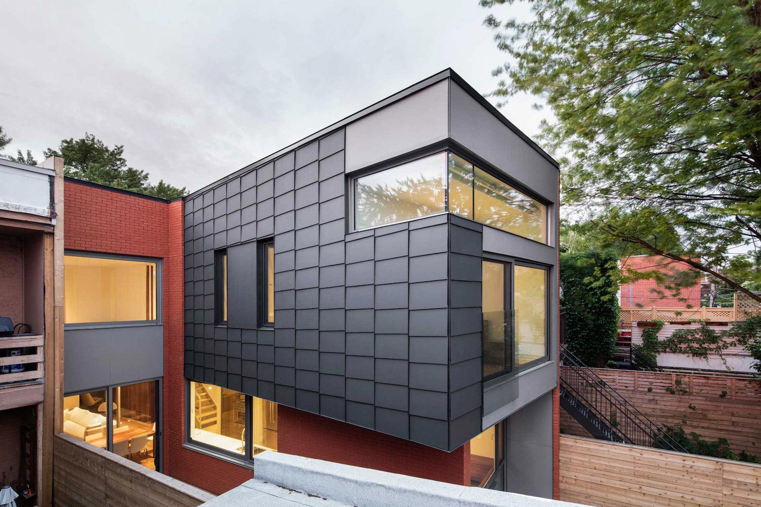 conversion of a 20th century duplex into a single family dwelling