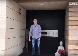 Inside the Cristiano Ronaldo's house in Pozuelo de Alarcon, Spain