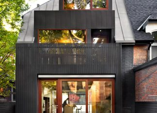 Modern family home renovation and addition to a traditional Victorian house in Toronto