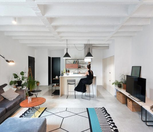 Stylish apartment designed for a young couple