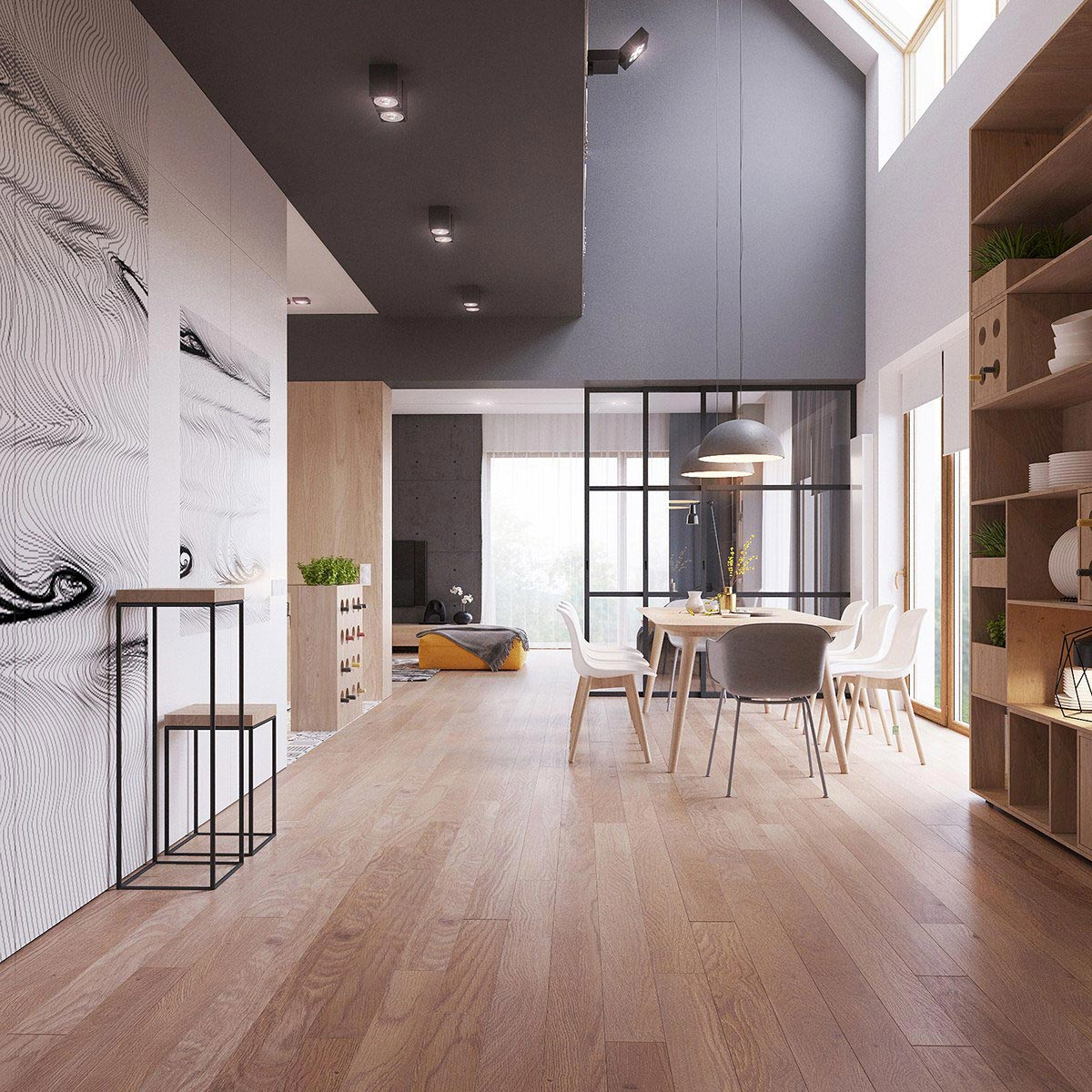 Two storey home contemporary scandinavian style young family 06