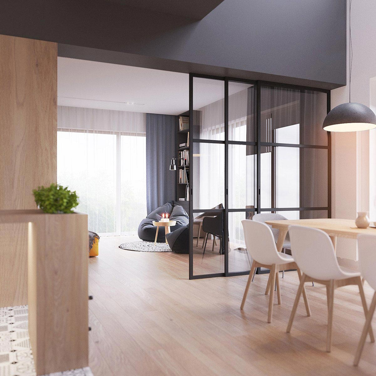 Two Storey Apartment Contemporary Scandinavian Style Young Family 07