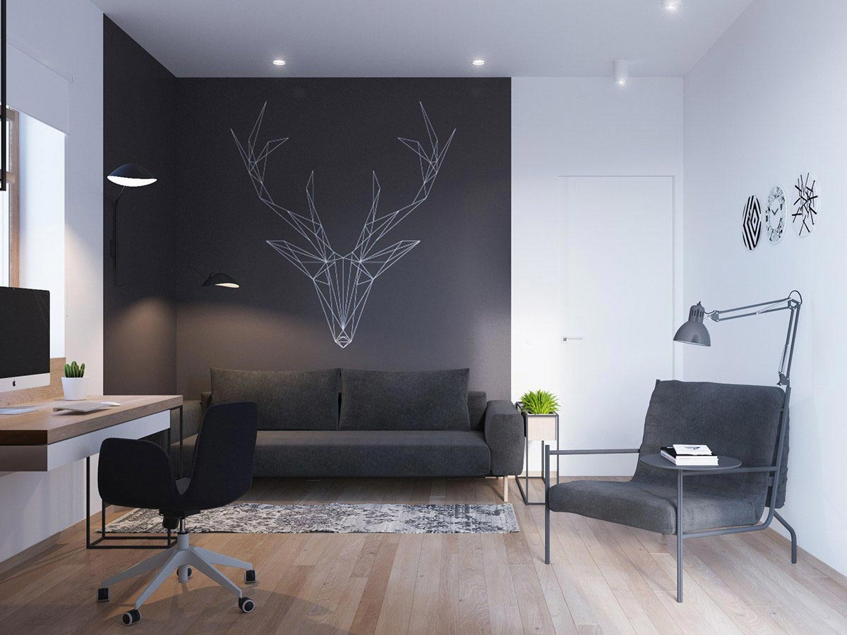 Two storey apartment contemporary scandinavian style young family 35