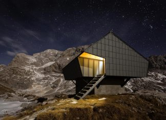 Alpine Shelter 'Bivak na Prehodavcih' located in Triglav National Park