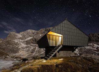 Alpine Shelter 'Bivak na Prehodavcih' located in Triglav National Park