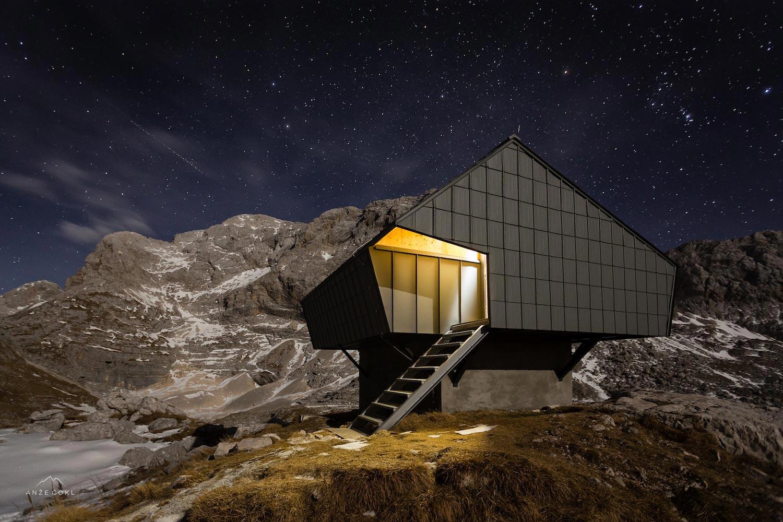 Alpine Shelter Bivak Na Prehodavcih Located In Triglav