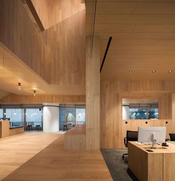 Bloomberg Wooden Hong Kong Office by Neri&Hu Design and Research Office