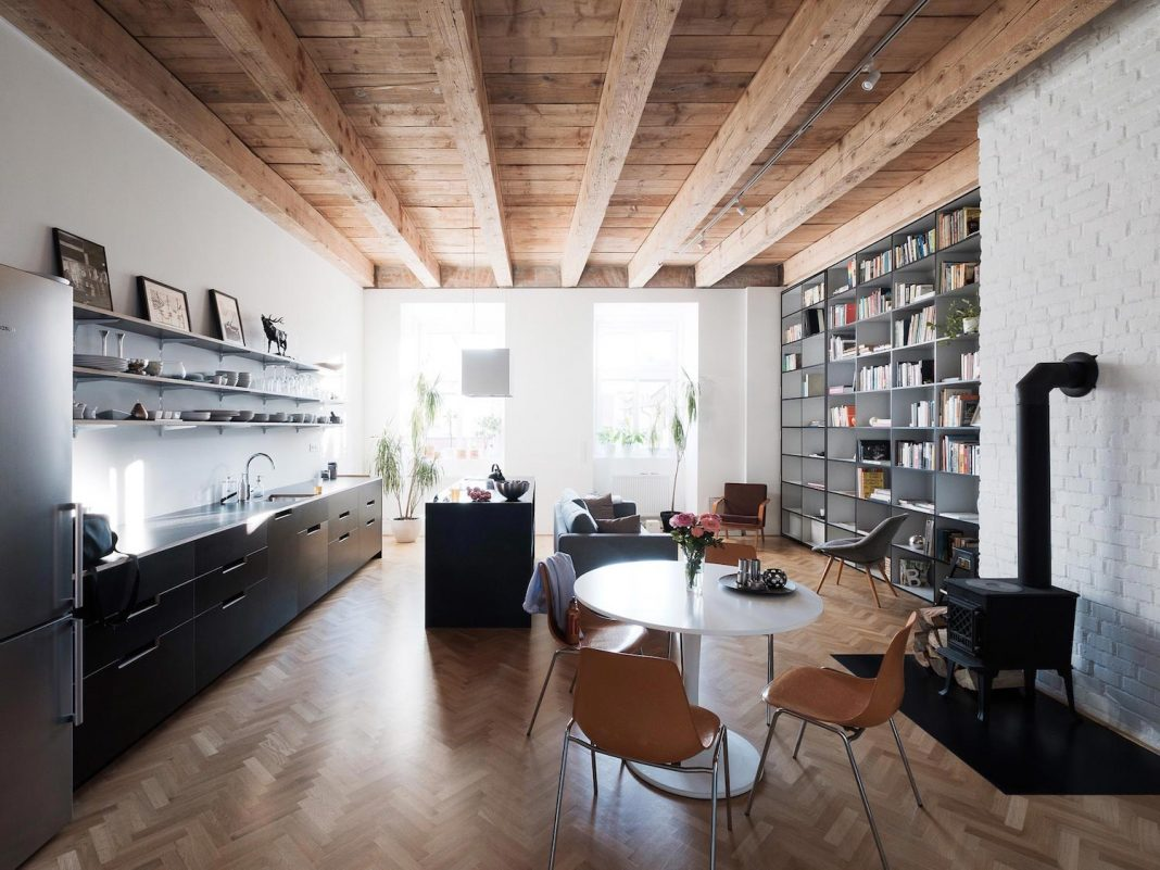 Clean and functional dwelling for a young couple located in a former monastery