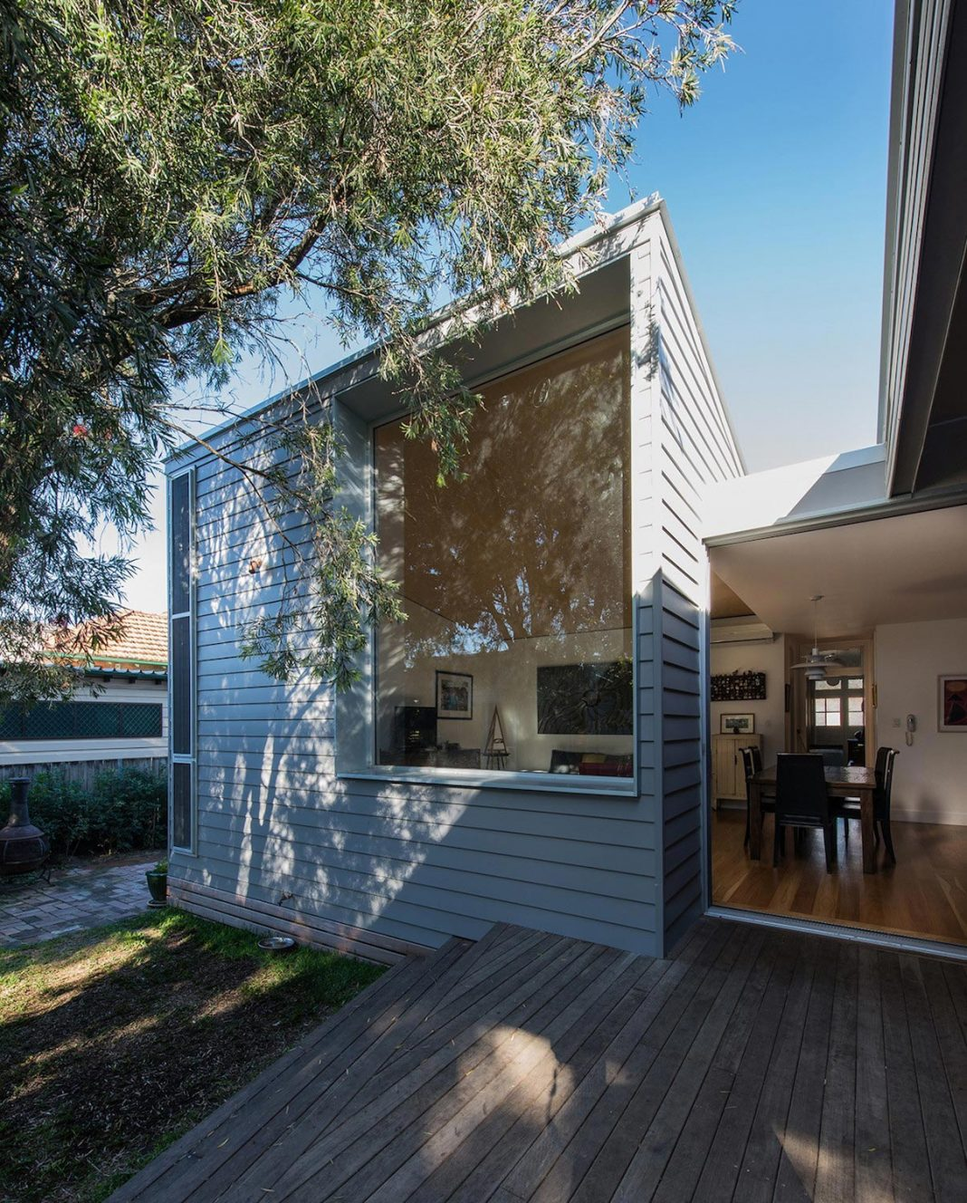 Conversion and extension of an old small cottage in the heritage suburb of hamilton caandesign - The chapel cottage historic vestige in contemporary lines ...