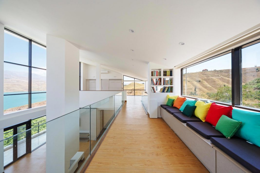 Energy self-sufficient, two story building which is designed as an old couple's second house