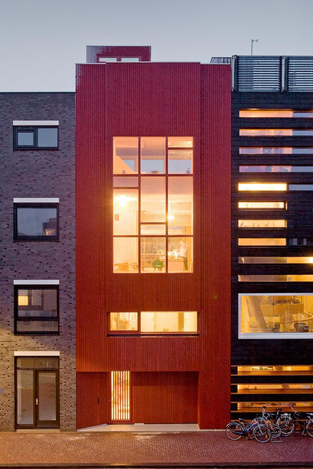 Five-storey wood-carving home built up by prefab wood elements