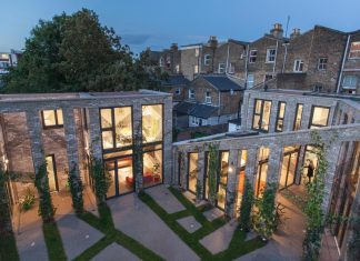 Forest Mews: 3 houses arranged around a multi-functional shared outdoor courtyard on an urban brownfield site