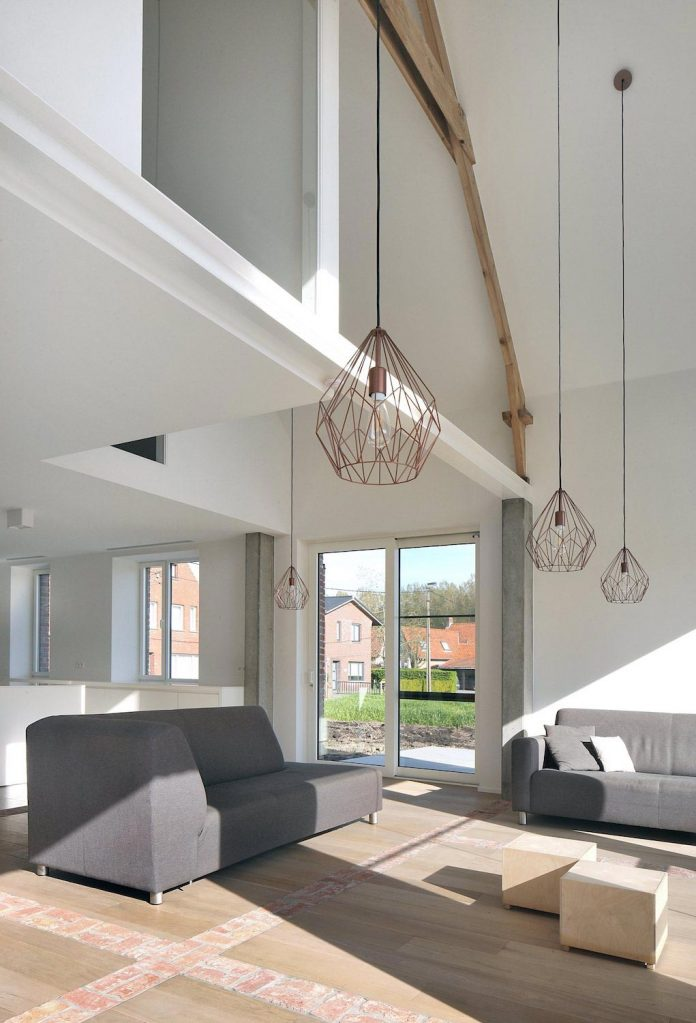 Former Farmhouse Conversion Into Contemporary Pitched Roof House With Two Chimney Shaped Skylights Caandesign Architecture And Home Design Blog