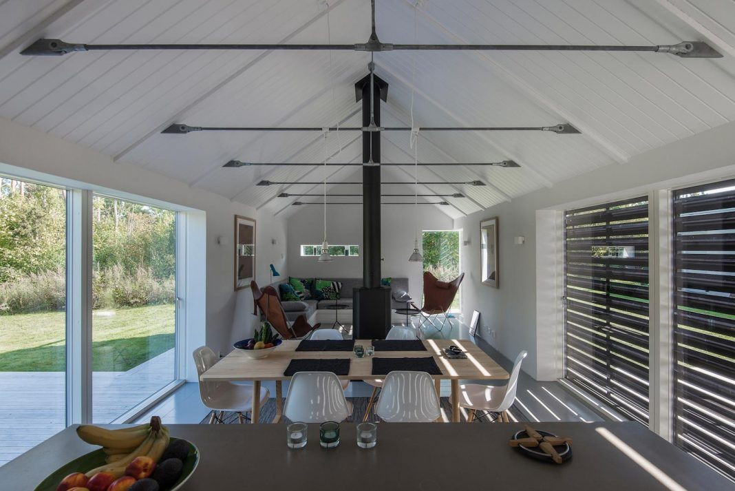 Outstretched and narrow barn converted into contemporary for Modern barn homes design