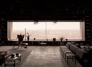 São Paulo penthouse design in order to create a cozy and solemn atmosphere