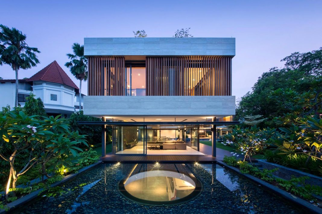 Secret Garden House: a luxurious, tropical, contemporary family home in Singapore